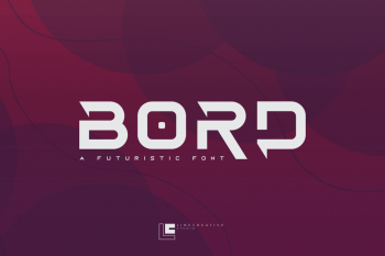 Bord Futuristic Display Font